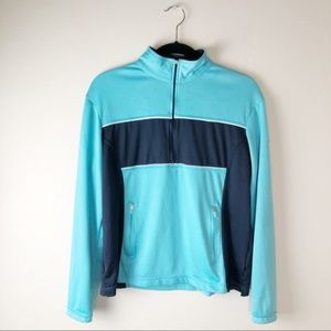 NIKE Dri-Fit Blue Half Zip Pullover Top Size Large